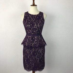 Eliza J Lace Peplum Lined Dress D170